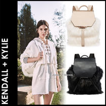 Kendall + Kylie Casual Style Plain Leather Backpacks