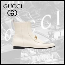GUCCI Leather Ankle & Booties Boots