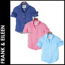 Frank&Eileen Casual Style Long Sleeves Plain Cotton Medium
