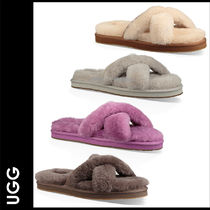 UGG Australia ABELA Open Toe Casual Style Suede Plain Slippers Sandals