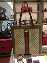 d57b5244439f GUCCI Ophidia Monogram Casual Style Canvas A4 2WAY Plain Totes