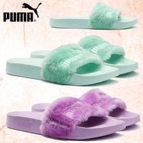 PUMA FENTY Open Toe Rubber Sole Casual Style Faux Fur Plain