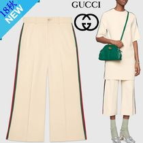 GUCCI Casual Style Nylon Plain Medium Culottes & Gaucho Pants