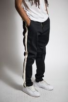 KDNK Tapered Pants Street Style Plain Cotton Tapered Pants