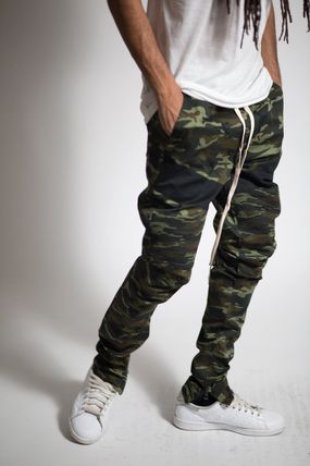 Camouflage Street Style Cotton Joggers & Sweatpants