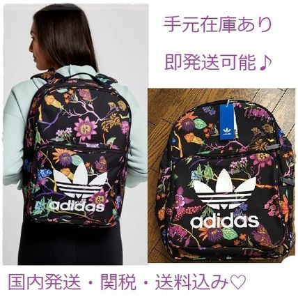 Flower Patterns Casual Style Backpacks