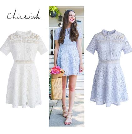Short A-line Short Sleeves Home Party Ideas Elegant Style