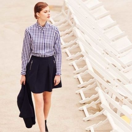 Gingham Cotton Shirts & Blouses
