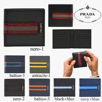 PRADA Saffiano Bi-color Folding Wallets