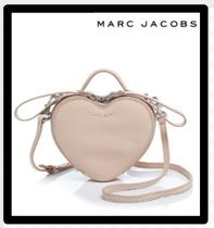 MARC JACOBS Heart Street Style 2WAY Plain Leather Elegant Style
