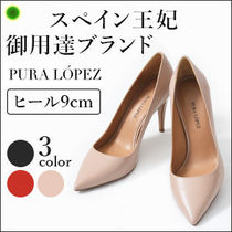 PURA LOPEZ Leather Pointed Toe Pumps & Mules