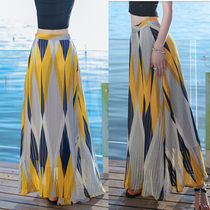 Stripes Casual Style Maxi Street Style Long Maxi Skirts