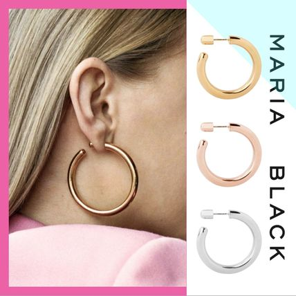 Maria Black Earrings Piercings Casual Style Uni