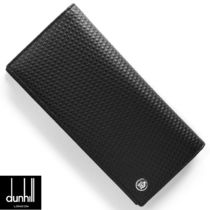 Dunhill Plain Leather Long Wallets