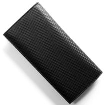 Dunhill Plain Leather Folding Wallet Long Wallets