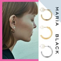 Maria Black Casual Style Unisex Silver Earrings & Piercings