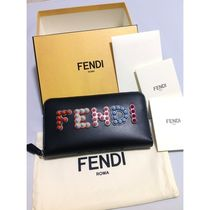 FENDI Unisex Leather Long Wallets
