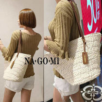 Casual Style A4 Straw Bags