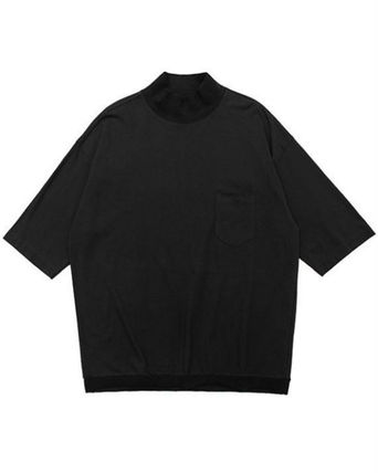 Pullovers Unisex Street Style Cropped Plain Cotton Oversized