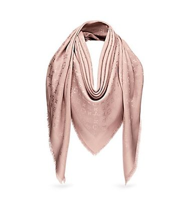 4009da0905ee3 ... Louis Vuitton Lightweight Monoglam Silk Party Style Lightweight Scarves    Shawls ...