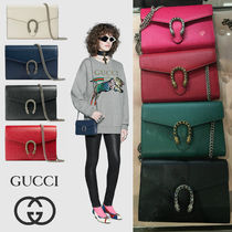 GUCCI Dionysus 2WAY Plain Leather Party Style Shoulder Bags