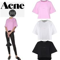 Acne Casual Style Plain Cotton Short Sleeves T-Shirts