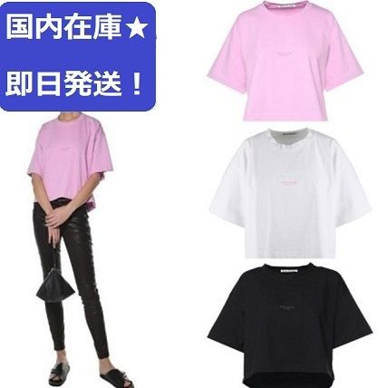 Casual Style Plain Cotton Short Sleeves T-Shirts
