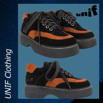 UNIF Clothing Casual Style Suede Street Style Low-Top Sneakers