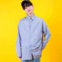 Stripes Street Style Long Sleeves Cotton Oversized Shirts