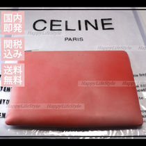 CELINE Casual Style Lambskin Plain Crystal Clear Bags Clutches