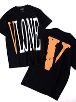 VLONE Crew Neck Unisex Street Style Cotton Short Sleeves