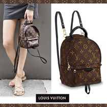 Louis Vuitton MONOGRAM Monogram Casual Style 3WAY Leather Backpacks
