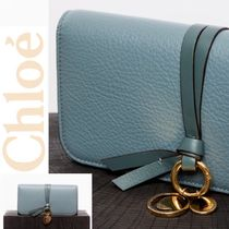 Chloe Calfskin Plain With Jewels Long Wallets