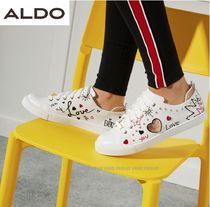 ALDO Round Toe Rubber Sole Lace-up Casual Style Low-Top Sneakers