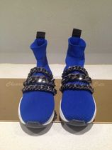 PIERRE BALMAIN Round Toe Casual Style Chain Low-Top Sneakers