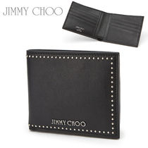Jimmy Choo Plain Leather Folding Wallets