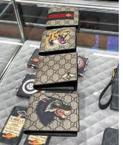 GUCCI Monogram Canvas Blended Fabrics Street Style