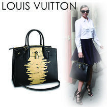 Louis Vuitton CITY STEAMER A4 2WAY Leather Office Style Handbags