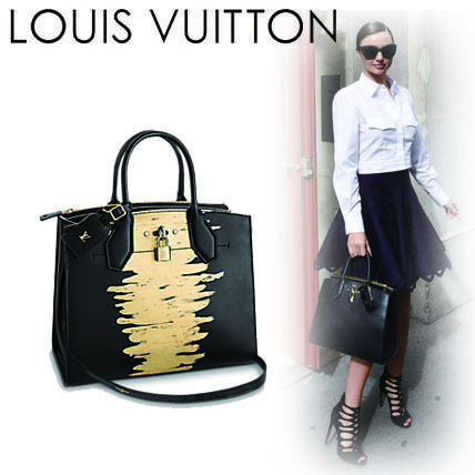 A4 2WAY Leather Office Style Handbags