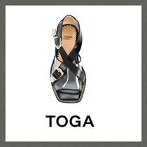 TOGA Open Toe Leather Sandals Sandals