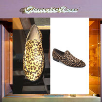 Gianvito Rossi Leopard Patterns Plain Toe Loafers Loafers & Slip-ons