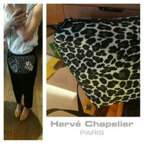 HERVE CHAPELIER Camouflage Leopard Patterns Casual Style Nylon Shoulder Bags