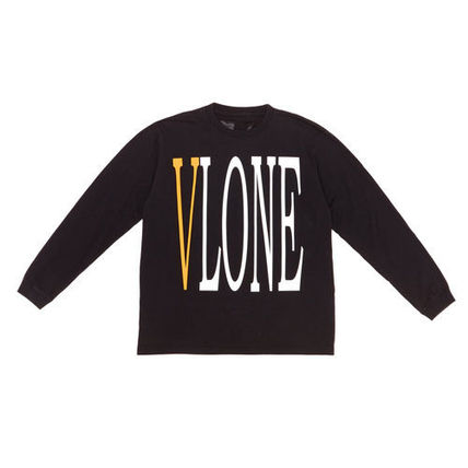 VLONE Unisex Street Style U-Neck Long Sleeves Cotton
