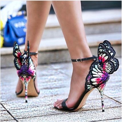 Open Toe Pin Heels Elegant Style Heeled Sandals