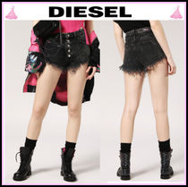 DIESEL Short Casual Style Denim Denim & Cotton Shorts