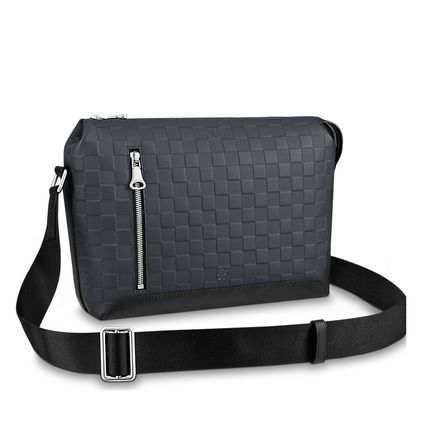 Louis Vuitton Messenger & Shoulder Bags Other Check Patterns Blended Fabrics Street Style 2WAY 6