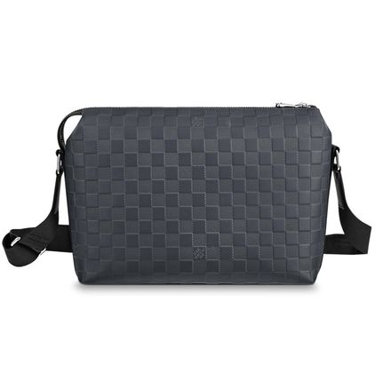Louis Vuitton Messenger & Shoulder Bags Other Check Patterns Blended Fabrics Street Style 2WAY 9