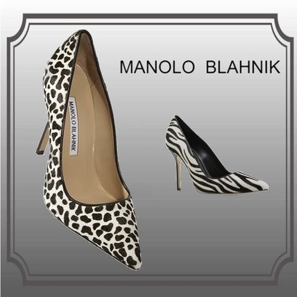 Zebra Patterns Other Animal Patterns Leather Pumps & Mules