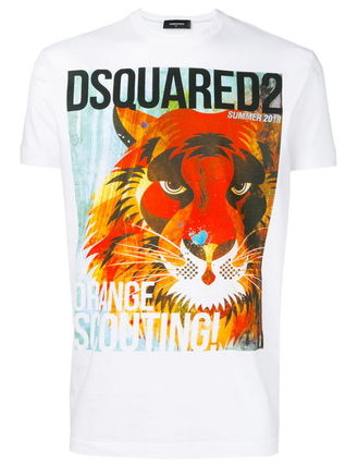 D SQUARED2 Crew Neck Street Style Cotton Short Sleeves Luxury