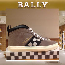 BALLY Other Check Patterns Suede Plain Sneakers